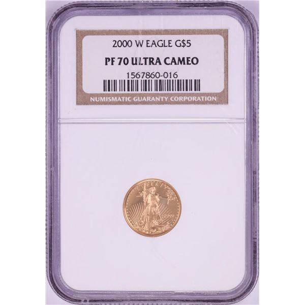 2000-W $5 Proof American Gold Coin NGC PF70 Ultra Cameo