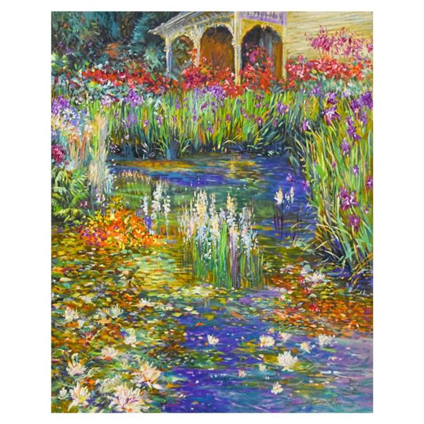"Henri Plisson ""Lily Pond"" Limited Edition Serigraph on Canvas"
