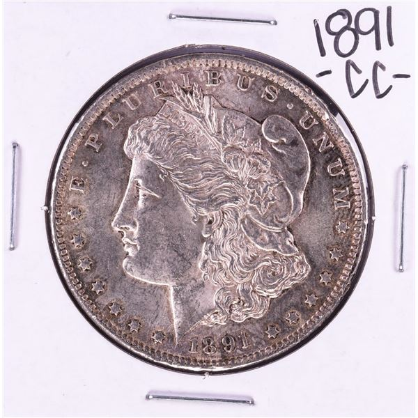 1891-CC Spitting Eagle VAM-3 $1 Morgan Silver Dollar Coin