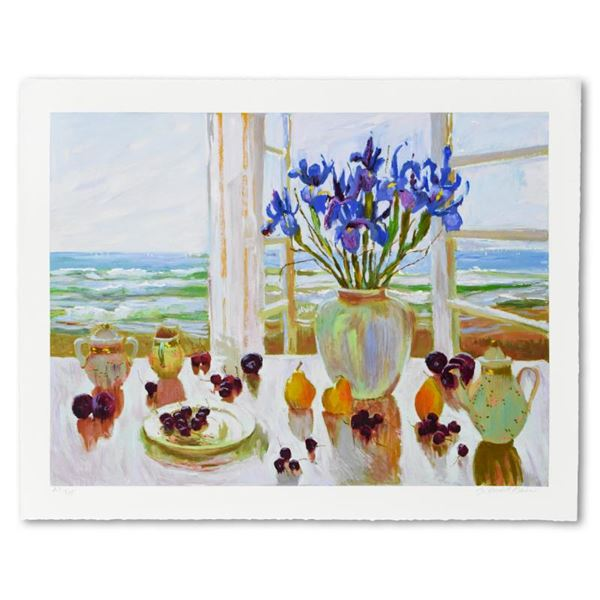 """S. Burkett Kaiser """"Late Afternoon Irises"""" Limited Edition Giclee on Paper"""