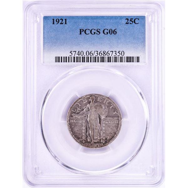 1921 Standing Liberty Quarter Coin PCGS G06