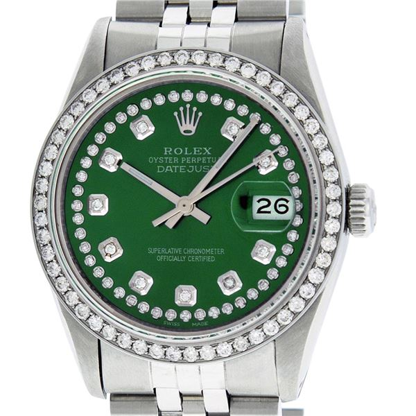 Rolex Men's Stainless Steel Diamond Oyster Perpetual 36MM Datejust Watch