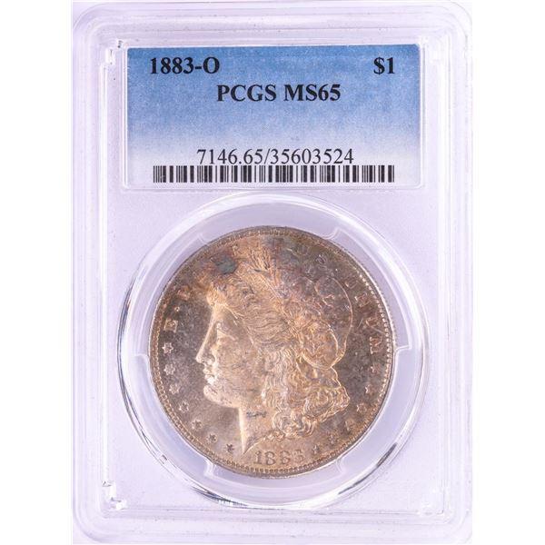 1883-O $1 Morgan Silver Dollar Coin PCGS MS65 Nice Toning