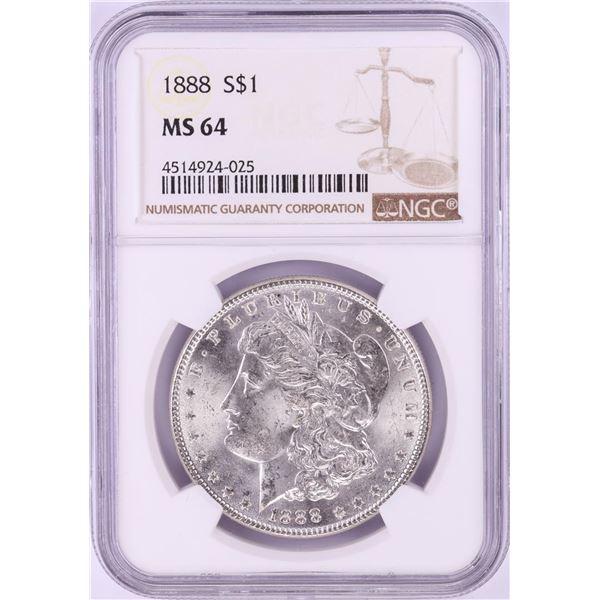 1888 $1 Morgan Silver Dollar Coin NGC MS64