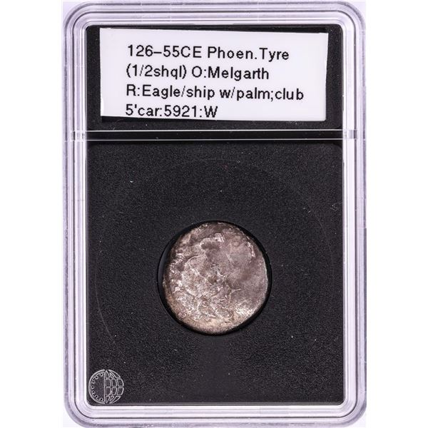 126-55CE Phoen Tyre Ancient Coin