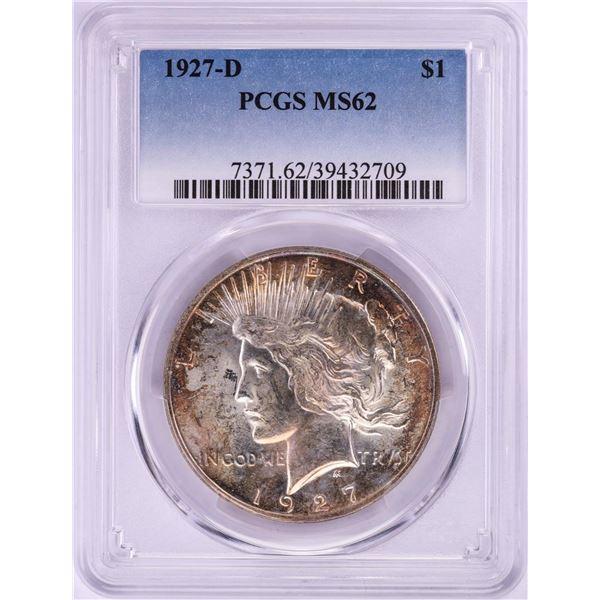 1927-D $1 Peace Silver Dollar Coin PCGS MS62