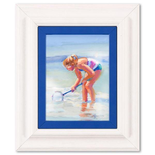 "Lucelle Raad ""Fishing"" Original Acrylic on Board"