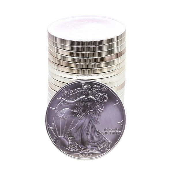 Roll of (20) Brilliant Uncirculated 2006 $1 American Silver Eagle Coins