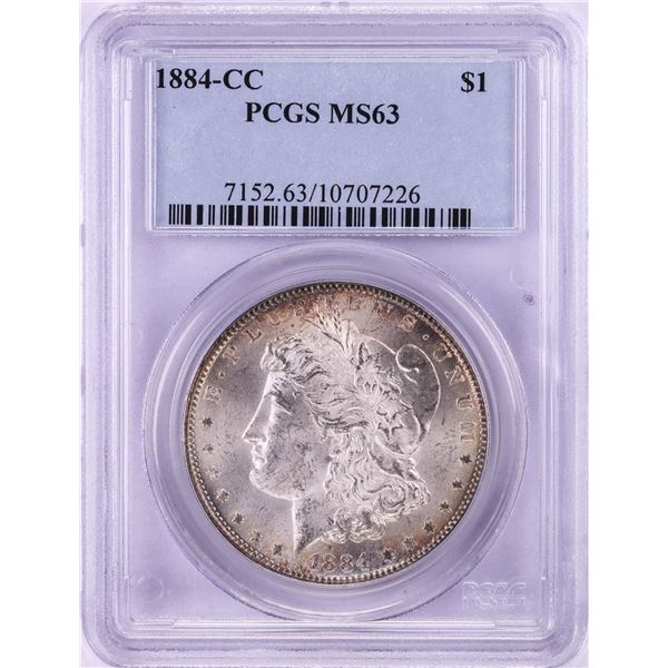 1884-CC $1 Morgan Silver Dollar Coin PCGS MS63