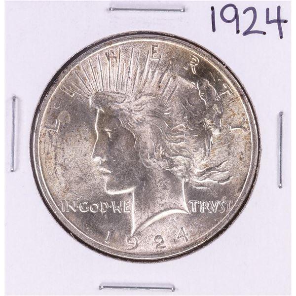 1924 $1 Peace Silver Dollar Coin