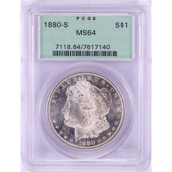 1880-S $1 Morgan Silver Dollar Coin PCGS MS64 OGH