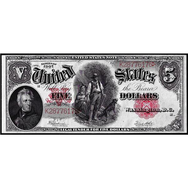 1907 $5 Woodchopper Legal Tender Note