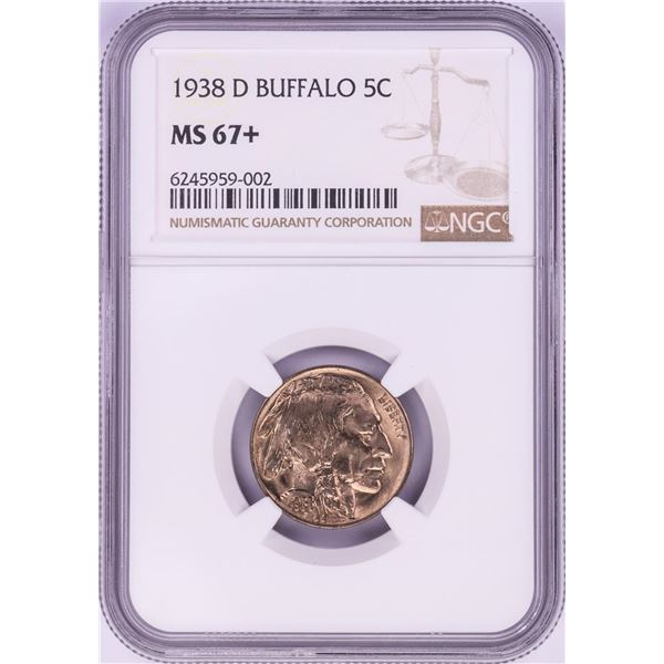 1938-D Buffalo Nickel Coin NGC MS67+
