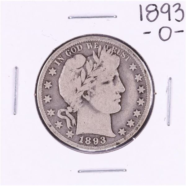 1893-O Barber Half Dollar Coin