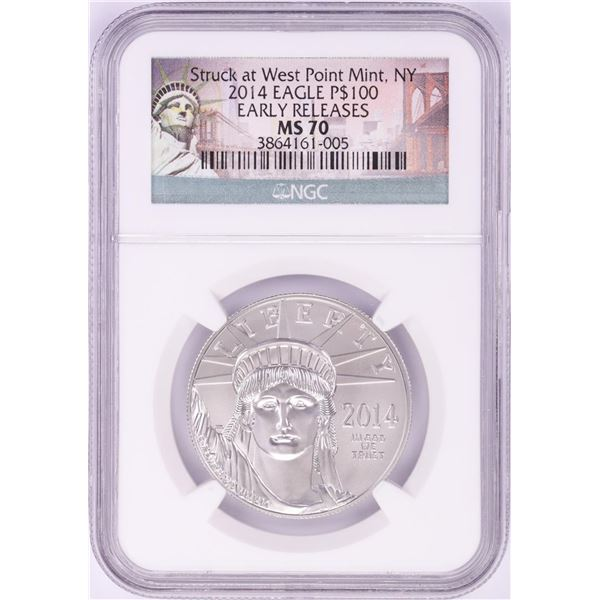 2014 $100 Platinum American Eagle Coin NGC MS70 Early Releases