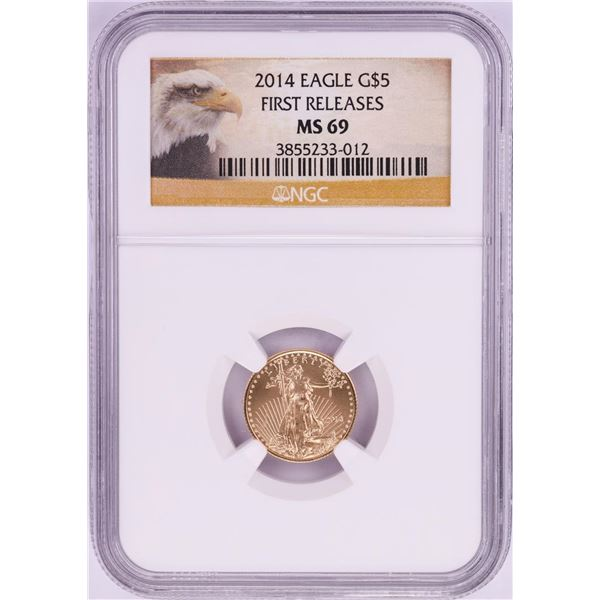 2014 $5 American Gold Eagle Coin NGC MS69 First Releases