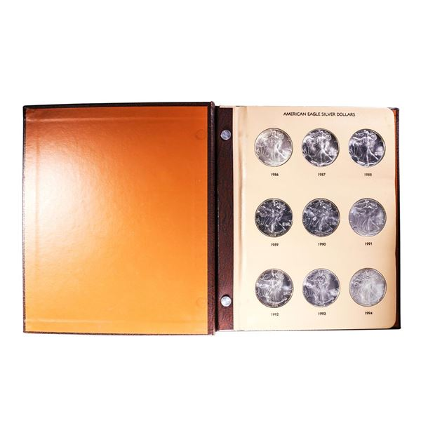 Book of Brilliant Uncirculated 1986-2005 $1 American Silver Eagle Coins