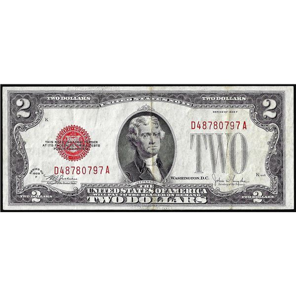 1928F $2 Legal Tender Note