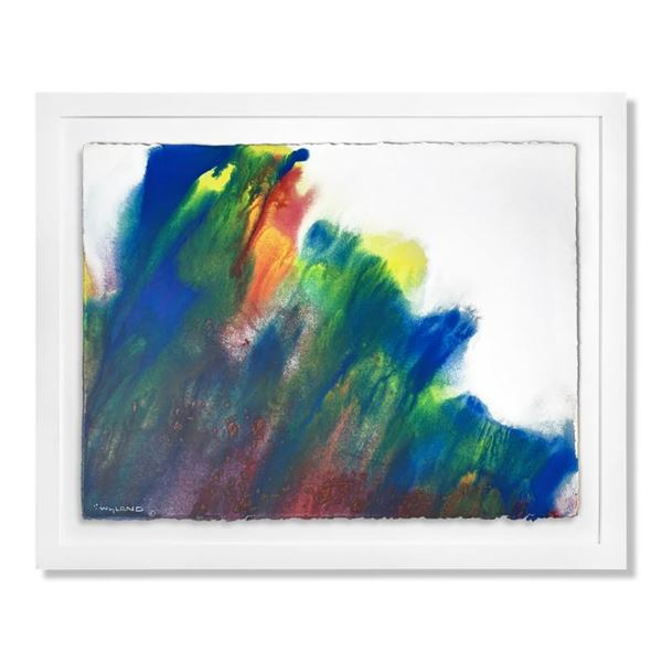 """Wyland """"Contemporary Abstract 2"""" Original Watercolor on Paper"""