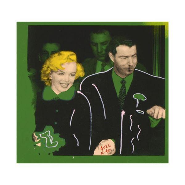 """Ringo Daniel Funes """"Mr. and Mrs. DiMaggio"""" Original Mixed Media on Canvas"""