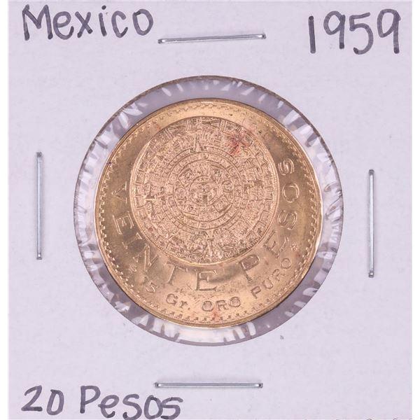 1959 Mexico 20 Pesos Gold Coin
