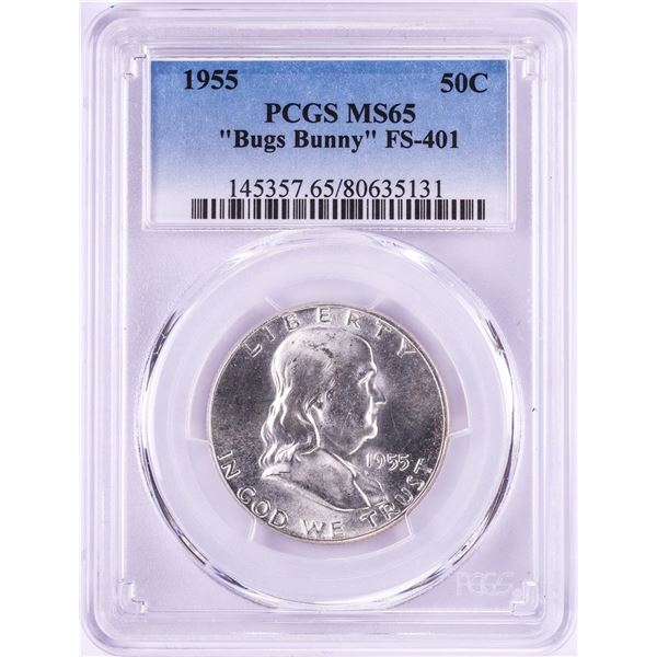1955 Bugs Bunny Franklin Half Dollar Coin PCGS MS65 FS-401