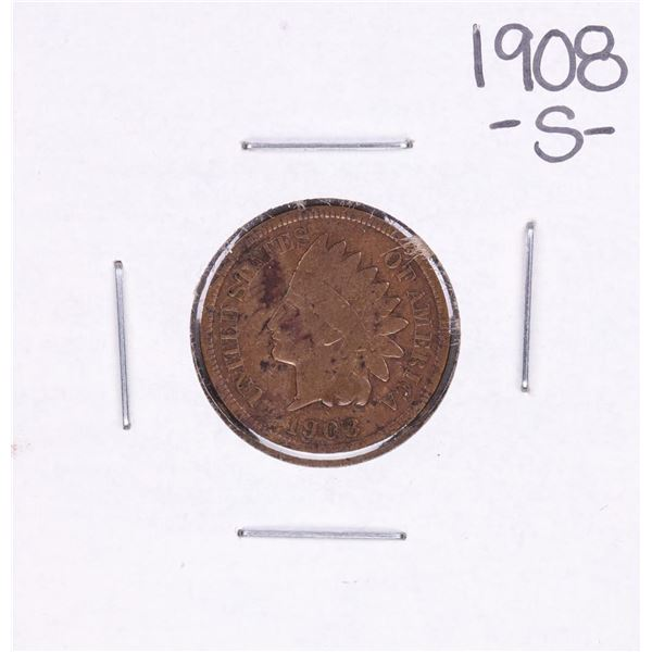 1908-S Indian Head Cent Coin