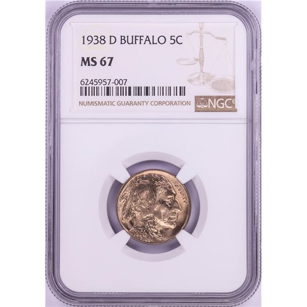 1938-D Buffalo Nickel Coin NGC MS67