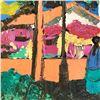"Image 3 : Henrie (1932-1999) ""Afternoon on Olivera St"" Original Oil on Canvas"