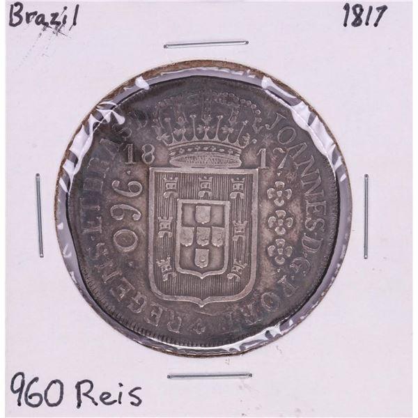 1817 Brazil 960 Reis Silver Coin