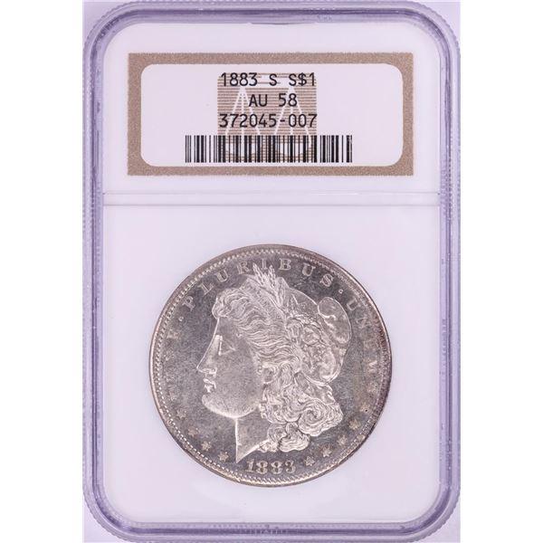 1883-S $1 Morgan Silver Dollar Coin NGC AU58