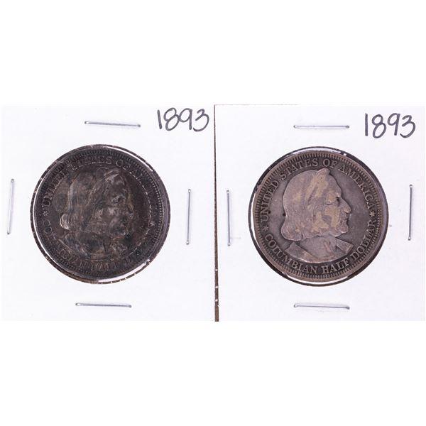 Lot of (2) 1893 Columbian Exposition Commemorative Half Dollar Coins