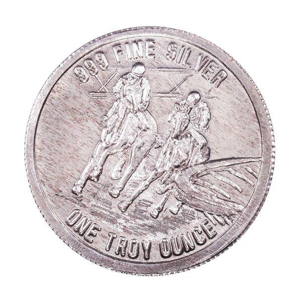 1982 L.A. County Fair for All 1oz .999 Fine Silver Art Round
