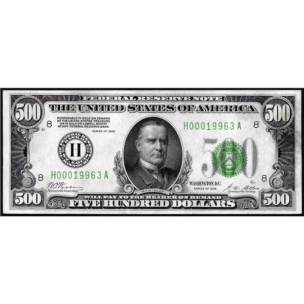 1928 $500 Federal Reserve Note St. Louis