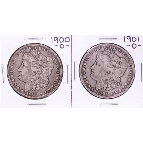 Lot of 1900-O & 1901-O $1 Morgan Silver Dollar Coins