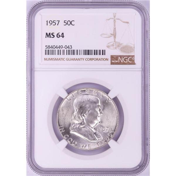 1957 Franklin Half Dollar Coin NGC MS64