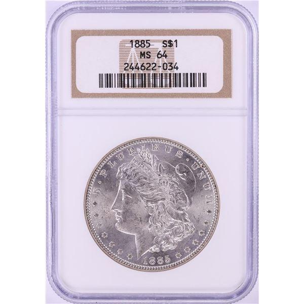 1885 $1 Morgan Silver Dollar Coin NGC MS64