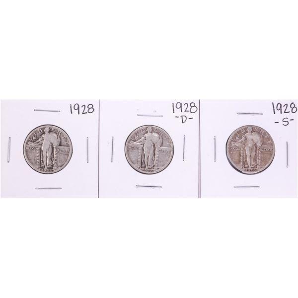 Lot of 1928-P/D/S Standing Liberty Quarter Coins