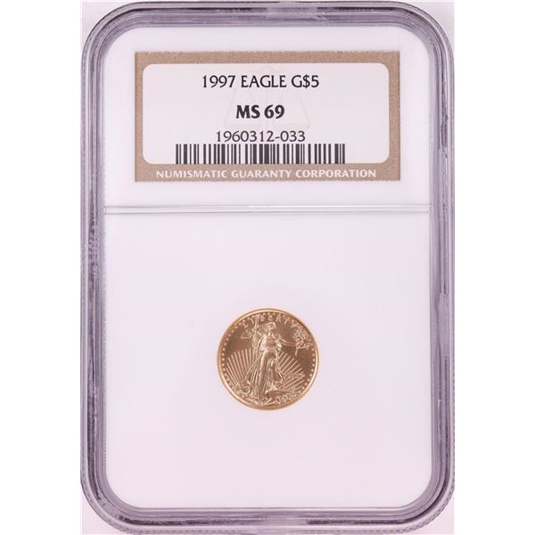 1997 $5 American Gold Eagle Coin NGC MS69