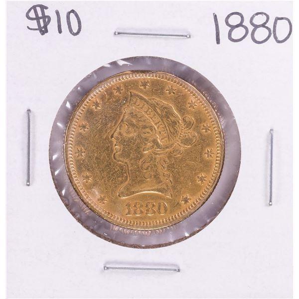 1880 $10 Liberty Head Eagle Gold Coin - Rim Filed
