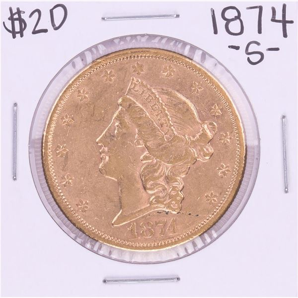 1874-S Type 2 $20 Liberty Head Double Eagle Coin