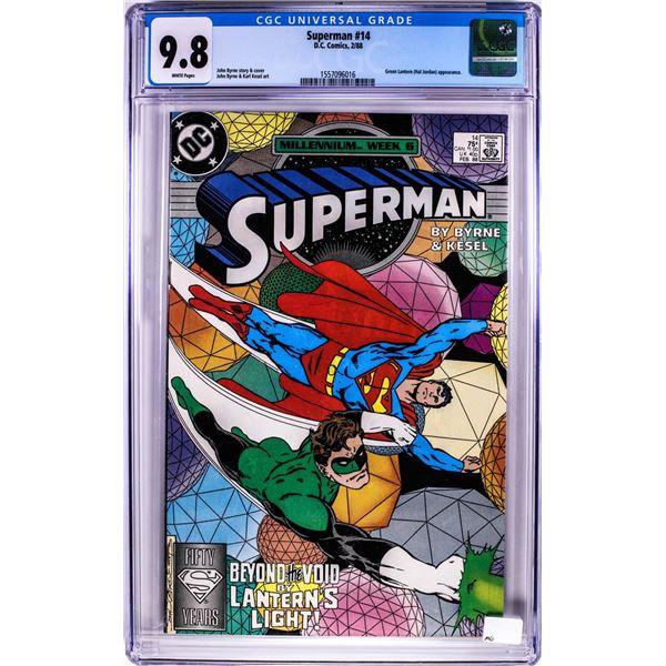 D.C. Comics Superman Comic Book #14 2/88 CGC 9.8