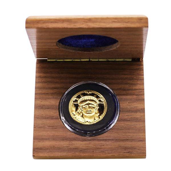 1986 Proof Rarities Mint 1/4 oz. Statue Of Liberty Commemorative Gold Coin