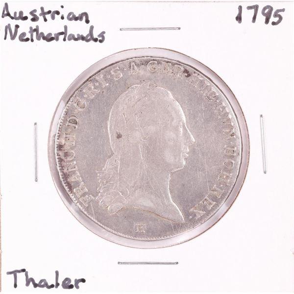 1795 Austrian Netherlands Thaler Silver Coin