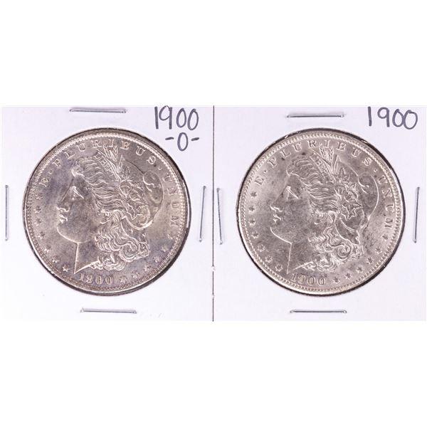 Lot of 1900 & 1900-O $1 Morgan Silver Dollar Coins