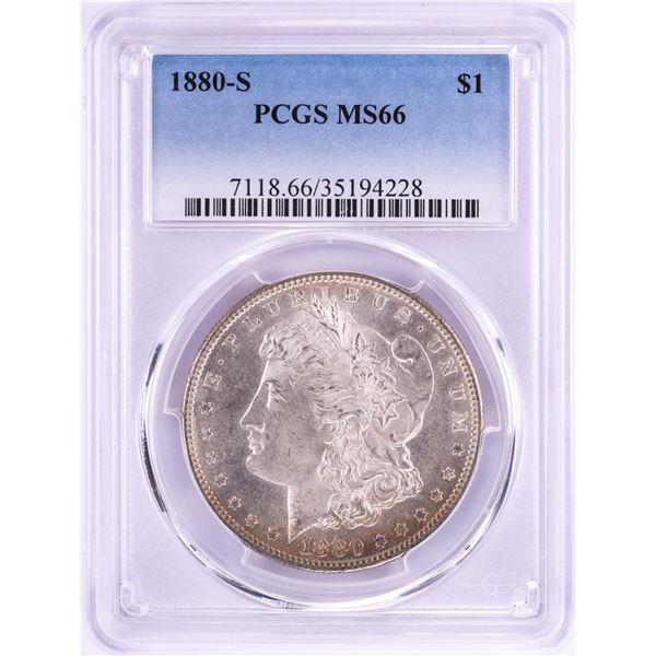 1880-S $1 Morgan Silver Dollar Coin PCGS MS66 Amazing Toning