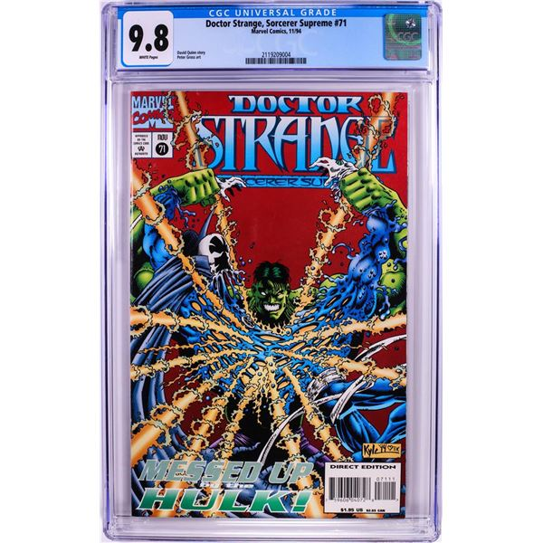 Marvel Comics Doctor Strange Sorcerer Supreme #71 Comic Book 11/94 CGC 9.8