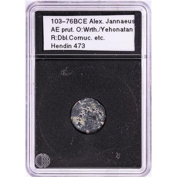 103-76BCE Alex Jannaeus Ancient Coin