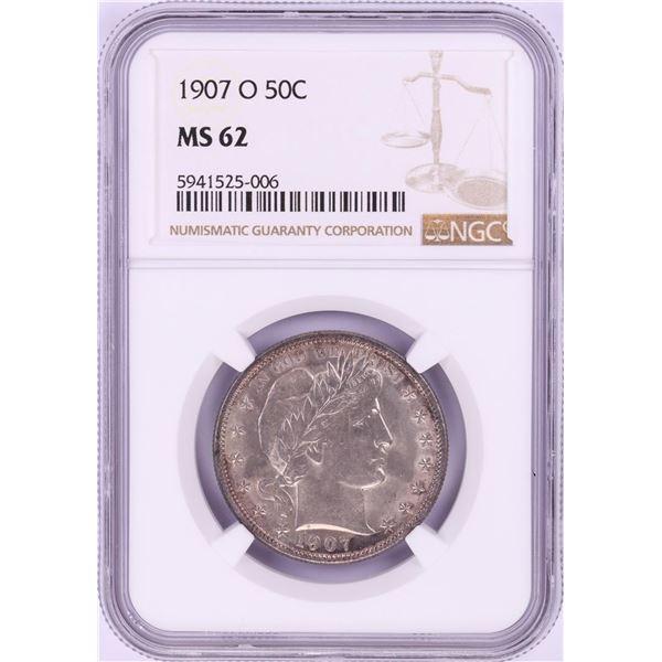 1907-O Barber Half Dollar Coin NGC MS62