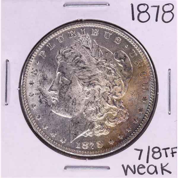 1878 7/8 TF Weak $1 Morgan Silver Dollar Coin